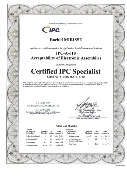 CERTIFICATIONS - ISOCOMP ELETTRONICA Srl